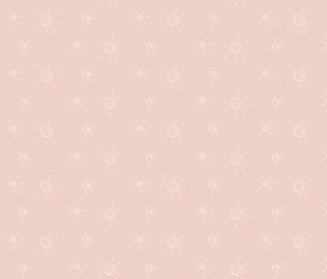 hand drawn sun - pastel pink fabric by sunny_afternoon on Spoonflower - custom fabric