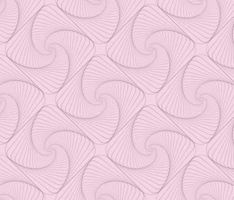 Pink geometry illusion fabric by tashakon on Spoonflower - custom fabric