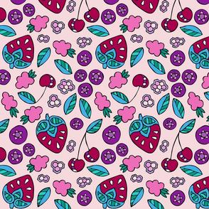 BerriesAndHoneycomb-Pink
