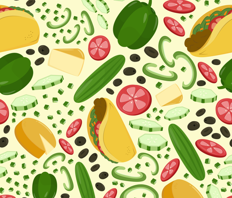Tacos Para Todos fabric by crystal_whitlow on Spoonflower - custom fabric