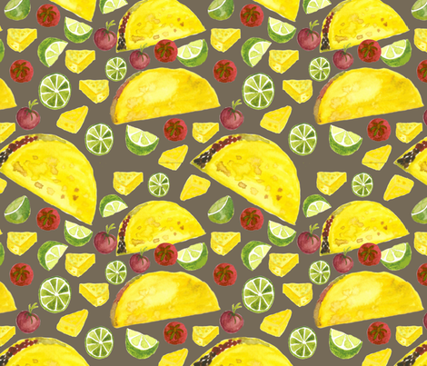Tacos my favorite fabric by jjdesignwithlove on Spoonflower - custom fabric