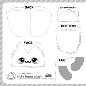 Cut & Sew Kitty Bean Plush Panda