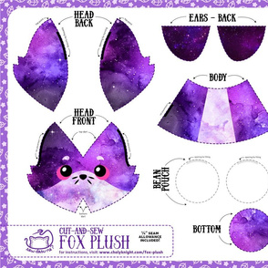 Cut & Sew Fox Plush Galaxy