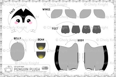 Cut & Sew Penguin Plush Gray
