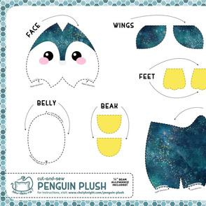 Cut & Sew Penguin Plush Blue