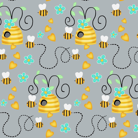 Whimsy Bee Hive  fabric by franbail on Spoonflower - custom fabric