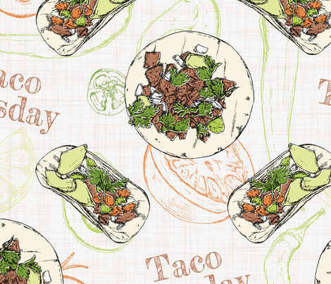 Taquitos fabric by stefaniejuliette_ on Spoonflower - custom fabric