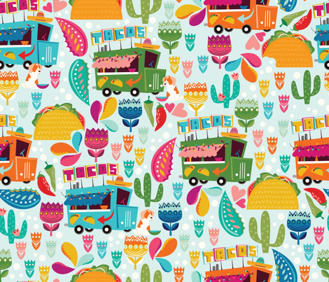 Taco Tuesday fabric by oliveandruby on Spoonflower - custom fabric