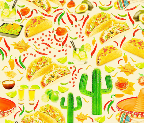 MEXICAN MEAL fabric by heckadoodledo on Spoonflower - custom fabric