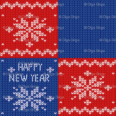 New year pattern. Christmas. Knitted background. Patchwork