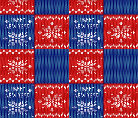 New year pattern. Christmas. Knitted background. Patchwork  fabric by olga_griga on Spoonflower - custom fabric