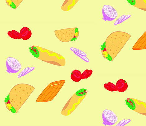 burritos and tacos fabric by thesocialtextile on Spoonflower - custom fabric