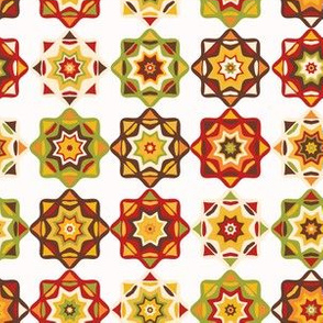 Folk Art Mosaic Tile Pattern