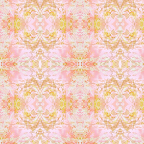 Mock Floral Pale Bouquet Zen Flame Pattern