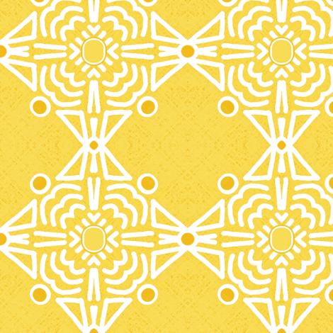 Diamond Do- Fab Yellow   fabric by franbail on Spoonflower - custom fabric