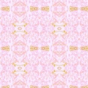Mock Floral Pale Bouquet Ikat Pattern