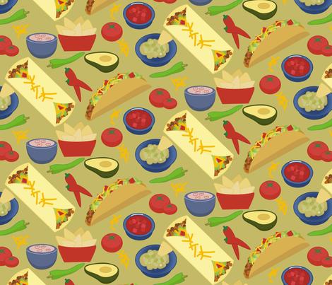 Taco-and-Burrito-chevron fabric by phein on Spoonflower - custom fabric