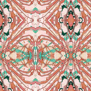 Mock Floral Blush Abstract Gem Vibration Pattern