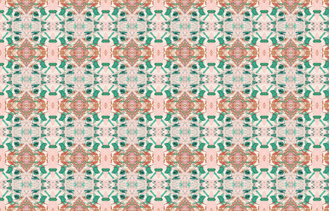 Mock Floral Blush Abstract Double Diamond Pattern fabric by pissykrissy on Spoonflower - custom fabric