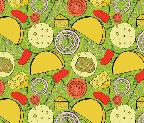 Deconstructed Taco fabric by abbeyrow on Spoonflower - custom fabric
