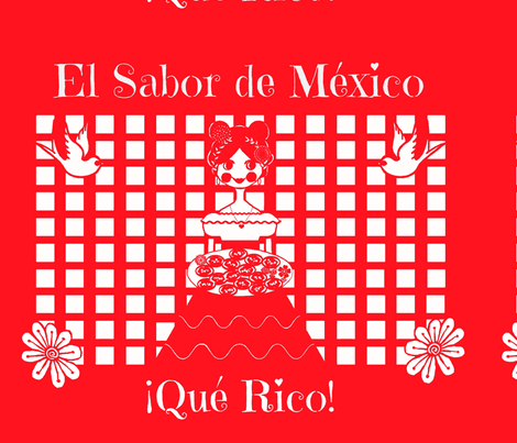 el sabor de mexico fabric by uberdesigns on Spoonflower - custom fabric