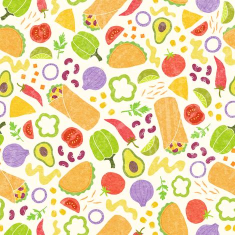 Mexican food fabric by kondratya on Spoonflower - custom fabric