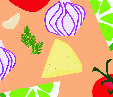 Do you want salsa with that? fabric by marisandesigns on Spoonflower - custom fabric