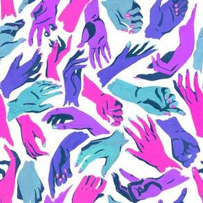 Multicolor Hands - cool colors