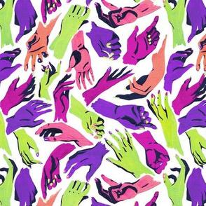 Multicolor Hands - halloween colors