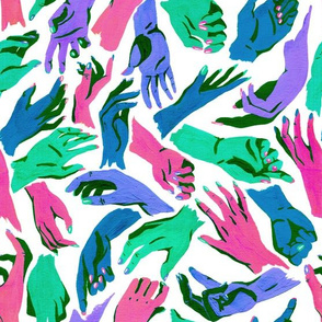 Multicolor Hands - muted colors