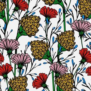 wildflower-white background