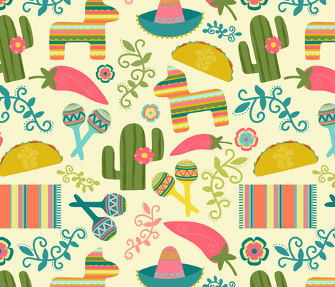 Viva El Taco! fabric by julesmooredesign on Spoonflower - custom fabric