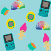 Eighties Childhood on Teal