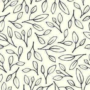 Leafy - ivory