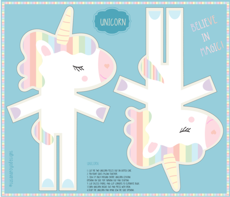 Unicorn Plush fabric by susanaroyodesigns on Spoonflower - custom fabric