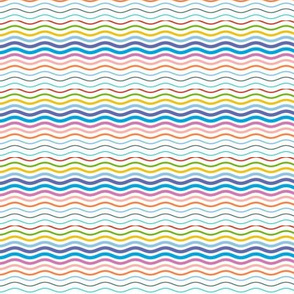 Postmark Stripes* || stripe stripes striped wave waves postmark snail mail post rainbow