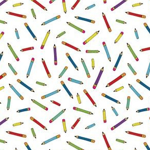 Pencil scatter - white - Small by Cecca Designs