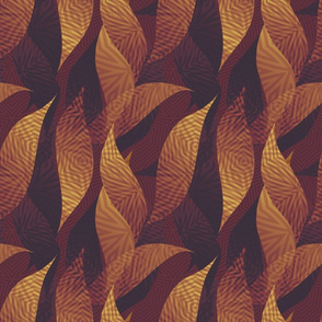 leaves-burgundy maize