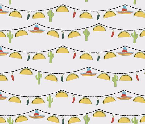 Fiesta de Tacos fabric by meredith_watson on Spoonflower - custom fabric