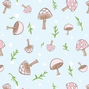 Woodland Mushrooms Sky