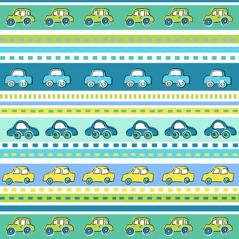 Car Stripe fabric by cressida_carr on Spoonflower - custom fabric