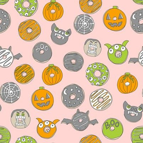 halloween donuts // fall autumn food cute spooky scary halloween design by andrea lauren - pink