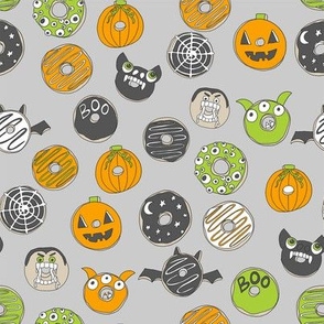 halloween donuts // fall autumn food cute spooky scary halloween design by andrea lauren - grey