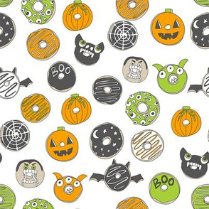 halloween donuts // fall autumn food cute spooky scary halloween design by andrea lauren - white