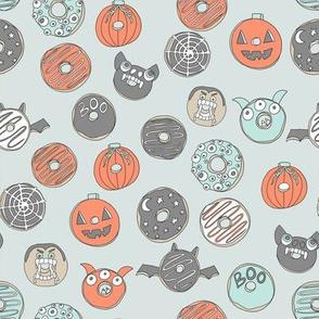 halloween donuts // fall autumn food cute spooky scary halloween design by andrea lauren - light
