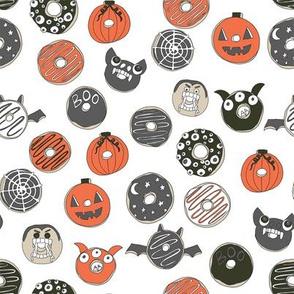 halloween donuts // fall autumn food cute spooky scary halloween design by andrea lauren - dark