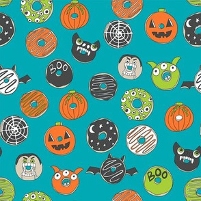 halloween donuts // fall autumn food cute spooky scary halloween design by andrea lauren - turquoise