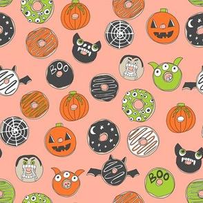 halloween donuts // fall autumn food cute spooky scary halloween design by andrea lauren - peach