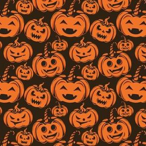 Vintage Laughing Halloween Pumpkins