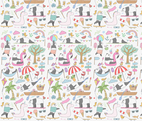Fun in the sea  fabric by littlebittyprints on Spoonflower - custom fabric